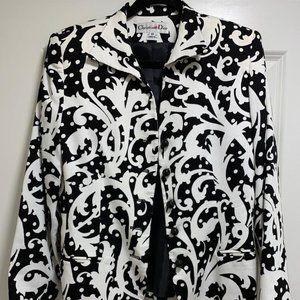 Vintage Christian Dior Jacket Black and White | 10